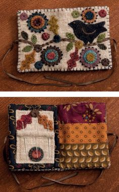 Isn't this the cutest little needle book you've ever seen? Gather bits of wool and get in the seasonal spirit with Kim Diehl's latest book, Simple Harvest.