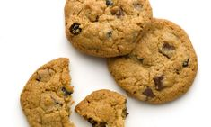 Blueberry choc-chip cookies, but uses dried blueberries, could be problem