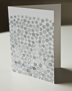 Snow Crystals Card - Margins