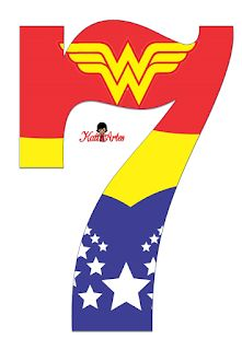 Wonder Woman Birthday, Wonder Woman Party, Wonder Woman Logo, Diy Superhero Costume, Girl Superhero Party, Anniversaire Wonder Woman, Superman Birthday, Numbers For Kids, Rainbow Parties