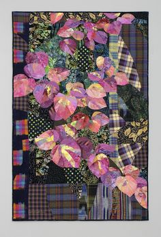 Hobblebush art quilt by Ruth B. McDowell.