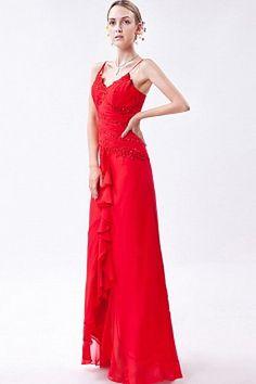 Sheath Column V-Neck Chiffon prom Gown - Order Link: http://www.thebridalgowns.com/sheath-column-v-neck-chiffon-prom-gown-tbg7470 - SILHOUETTE: Sheath/Column; SLEEVE: Sleeveless; LENGTH: Floor Length; FABRIC: Chiffon; EMBELLISHMENTS: Draped , Flower , Ruched , Sequin - Price: 181USD