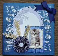 3D Karte süße Katze inkl. Umschlag von Pattys Kartenwelt auf DaWanda.com