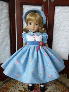 """Flowers and Velvet Outfit for Effner 13"""" Little Darling Doll Made by Apple"""