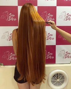 VIDEO on Instagram Long Red Hair, Super Long Hair, Thick Hair, Straight Hairstyles, Braided Hairstyles, Rapunzel Hair, Long Hair Video, Maine, Beautiful Long Hair