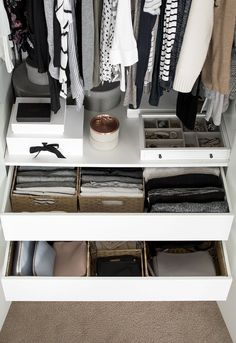 Using baskets for simple organizing.