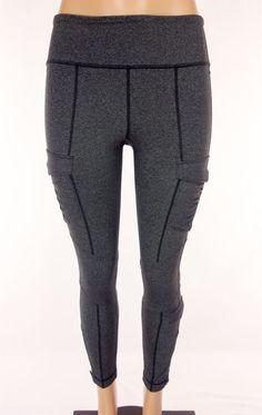 LULULEMON Pants Size 8 M Medium Heathered Charcoal Gray Gathered Pockets #Lululemon #PantsTightsLeggings