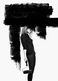 When I saw these pictures from the Black jeans collection by Tiger of Sweden from the fall of I was so inspired that I'm even thinki. Black White Fashion, Black N White, White Art, Kreative Portraits, Art Photography, Fashion Photography, Lifestyle Photography, Tiger Of Sweden, Soul Art
