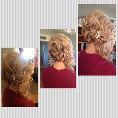 Wedding hairstyle bridal updo soft romantic loose style bride bridesmaid. Hair by Wendy Zarate. Minneapolis, MN. Www.wendyzarate.com