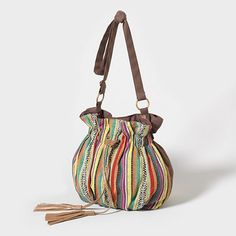 Color Me Bright Stitched Drawstring Bag
