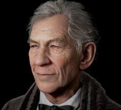 Sir Ian Mckellen - More renders, Noel Que on ArtStation at https://www.artstation.com/artwork/ZzGQN