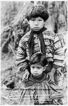 1938 SEMINOLE INDIAN CHILDREN FLORIDA PHOTO