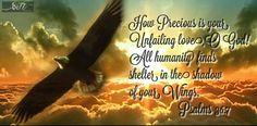 inspirational Bible verse Psalms 36:7
