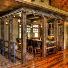 Gull Lake Kitchen - traditional - pub room