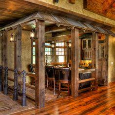 Gull Lake Kitchen - traditional - pub room