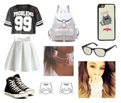 """""""99 problems"""" by amandamatte ❤ liked on Polyvore featuring Chicwish, Converse and Gucci"""