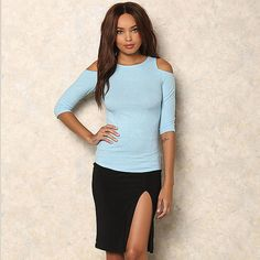 Hot Spring Summer Half Sleeve Tees Fashion T-Shirt Sexy Off Shoulder Shirt Women Tops Slim Solid T-Shirts 1124 Like if you remember Visit us