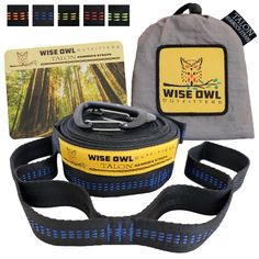 """Camping accessories :""""Grand Opening Price! XL Hammock Tree Straps - Heavy Duty No Stretch Versatile Suspension System Kit Great Accessories For Any Outdoor Camping Hammocks Like Eno : Wiregate Carabiners Included"""" -- Check this awesome product  at this Camping accessories board"""