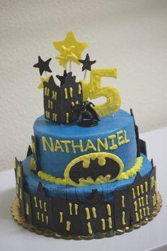 2 teir batman birthday cake! #Batman #Party #Cake