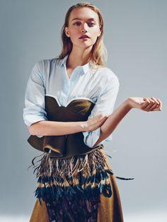 Gemma Ward by Beau Grealy for Sunday Style Australia October 2014