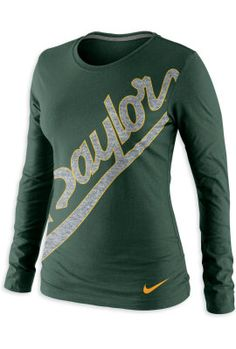 #Baylor Nike Angled Script Long Sleeve Tee ($32 at Baylor Bookstore)