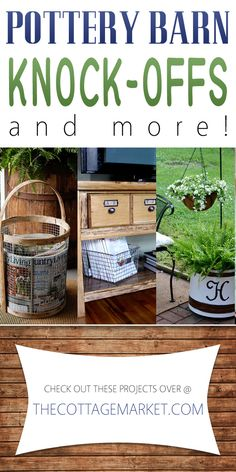 Looking for some Pottery Barn inspiration? This collection of Pottery Barn Knock-Offs is full of DIYs, makeovers and knock-offs of Pottery Barn favorites. Furniture Makeover, Diy Furniture, Pottery Barn Hacks, Knock Off Decor, Pottery Barn Inspired, Pottery Barn Style, Diy Hacks, Knock Knock, Cottage Style