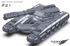 21. UCM preview. A light tank with a flame thrower for the UCM.