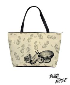 Squid Ink Tattoo Handbag