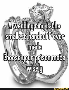 wedding, ring, handcuff, choose, wisely