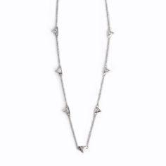 Avinas Jewelry Collection 2013 - Delicate triangular ZC necklace silver - Triangular zircon necklace