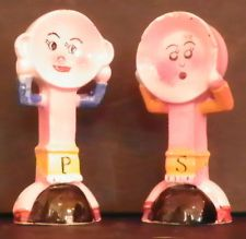 VINTAGE PAN AND POT (POSSIBLY POT AND PLATE) SALT AND PEPPER SHAKER SET 5477W