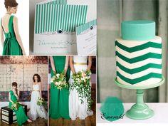 Wedding Inspiration - Emerald Color