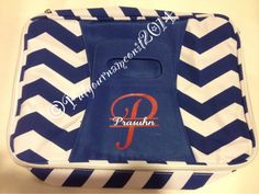 Insulated Chevron casserole carrier by PutYourNameOnIt2014 on Etsy