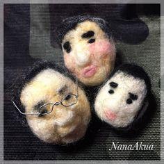 NanaAkua https://www.facebook.com/NanaAkua.Kobo 手玉に取って遊ぶことのできるおじさんたち。 羊毛フェルトおじさんボール。 何年か前に作ったのが久しぶりにコロコロ出てきたよ。 #needlefelting #handmade #ball #羊毛フェルト #ハンドメイド   NanaAkua https://www.facebook.com/NanaAkua.Kobo