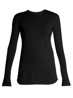 VINCE Cotton and cashmere-blend long-sleeved T-shirt. #vince #cloth #t-shirt