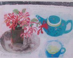 """Chinese teapot, jasmine and honey suckle"" Elaine Pamphilon . http://paintdropskeepfalling.wordpress.com/2010/06/18/elaine-pamphilon-and-christopher-marvell/"
