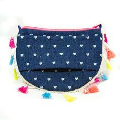 Girls Denim Rainbow Pulseta purse