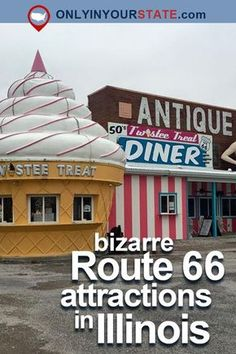 Take A Road Trip Along The Stretch Of Historic Route 66 That Runs Right Through Illinois. En route, You'll See Tons Of Bizarre, Off-The-Beaten-Path Roadside Attractions You Never Even Knew Existed. Route 66 Attractions, Route 66 Road Trip, Travel Route, Us Road Trip, Road Trip Hacks, Travel Usa, Places To Travel, Travel Tips, Travel Ideas