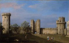 Warwick Castle, East Front from the Courtyard, Canaletto, 1752. Birmingham Museum and Art Gallery