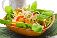 Garden Salad with Lemon and Oil Dressing - Old WW: 5 pts, PointsPlus: 6 pts