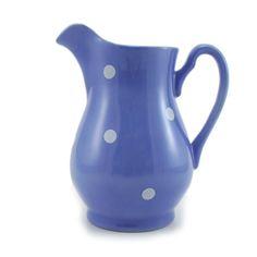 Leiteira porcelana poás Azul lavanda