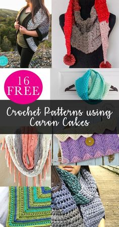 Free Crochet Patterns Using Caron Cakes | Caron Tea Cakes | Caron Big Cakes | Crochet Scarf | Crochet Bags | Crochet Shrug | Crochet Blanket