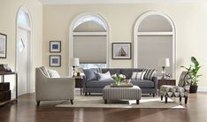 Arched window treatments with sliding door curtains with half circle window cover with sliding patio door blinds Curtains For Arched Windows, Sliding Door Curtains, Sliding Patio Doors, Arched Window Treatments, Window Coverings, Half Circle Window, Patio Door Blinds, Honeycomb Shades, Woven Wood Shades