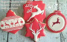 Dolce: Elegant Reindeer Christmas cookies.