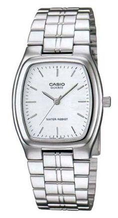 Casio MTP1169D-7A Mens Standard Stainless Steel White Dial Rectangular Watch