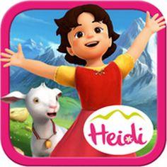 Saftige Wiesen, süße Ziegen und die Sonne im Gesicht - einen Tag mit #Heidi in den Bergen. Wer möchte das nicht? #Kinderapp Heidi: Abenteuer in den Bergen #iPad #iPhone #Android #Peter #Apps