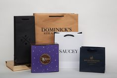 Custom luxury restaurant packaging   Custom carryout bags and shopping bags   Morgan Chaney