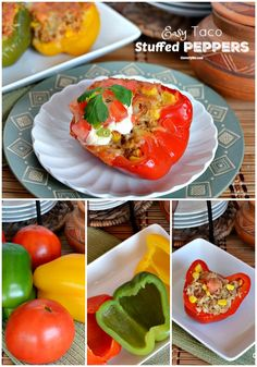 Looking for a fresh and delicious recipe? These Taco Stuffed Peppers are such an easy weeknight dinner that are packed with flavor and everyone will love! Veggie Recipes, Beef Recipes, Vegetarian Recipes, Delicious Recipes, Healthy Recipes, Easy Cooking, Healthy Cooking, Yummy Eats, Yummy Food