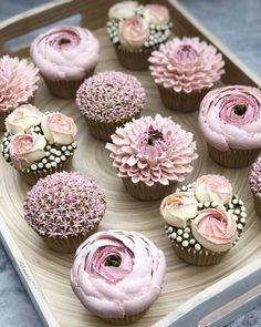 [New] The 10 Best Dessert Ideas Today (with Pictures) - Perfect for a bridal shower these cupcakes are just too sweet to be true! Who loves this idea? Cupcakes by Cupcakes Design, Floral Cupcakes, Cake Designs, Cupcake Bouquets, Easter Cupcakes, Christmas Cupcakes, Pink Wedding Cupcakes, Pink Cupcakes, Baby Shower Cupcakes