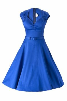 Pinup Couture - Heidi dress in Royal Blue